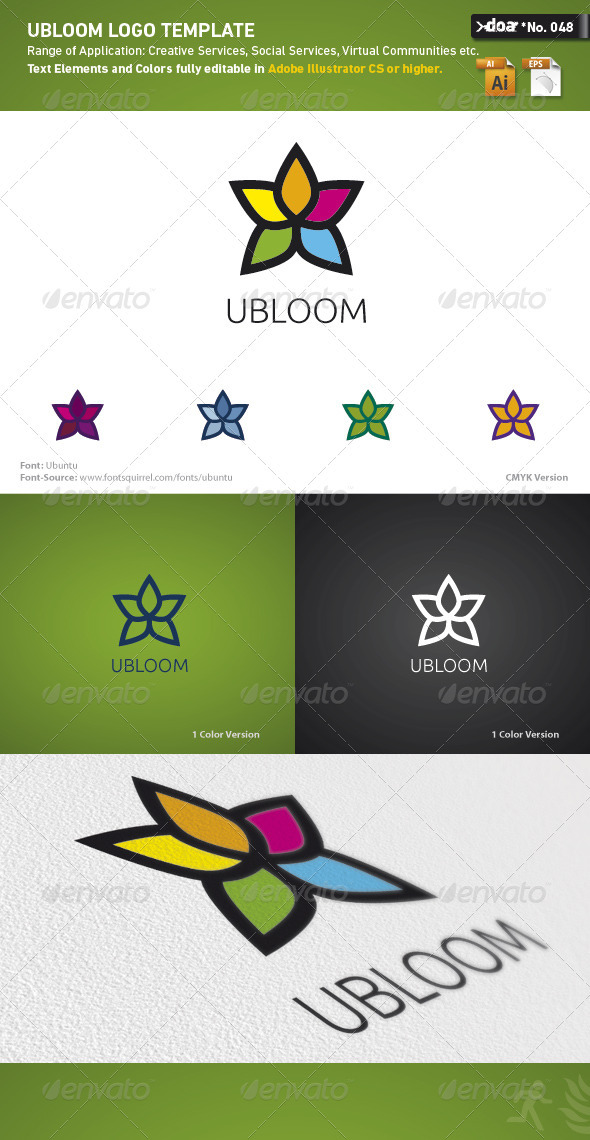 Ubloom Logo Template - Nature Logo Templates