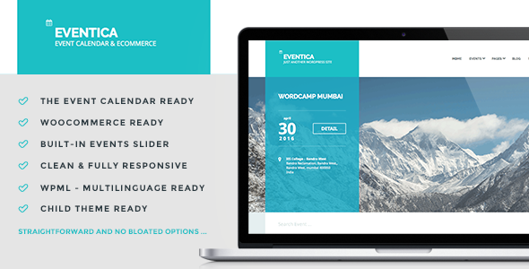 ThemeForest EVENTICA Event Calendar & Ecommerce For WordPress 10102155