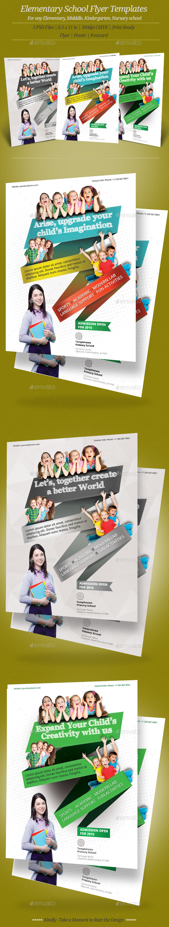 GraphicRiver Elementary School Flyer Templates 10160263