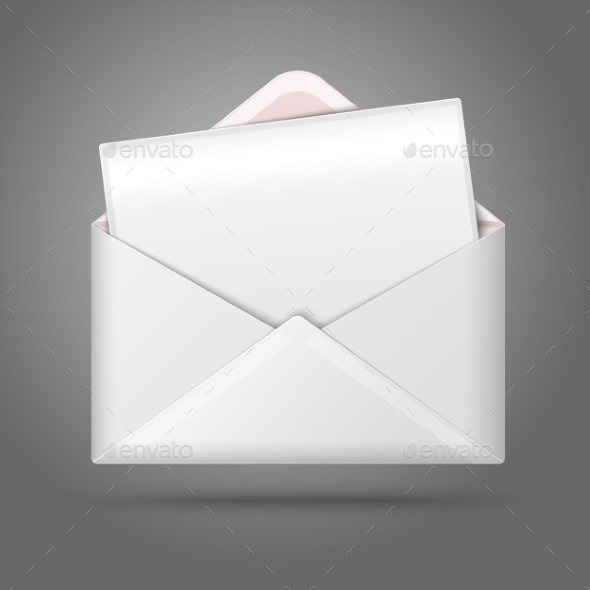 GraphicRiver Blank Opened Envelope and Postcard 10160272