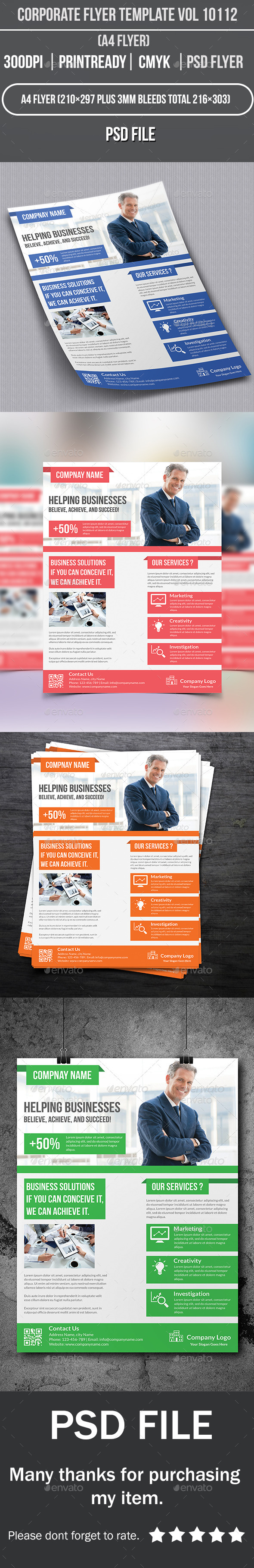 GraphicRiver Corporate Flyer Template Vol 10112 10160651