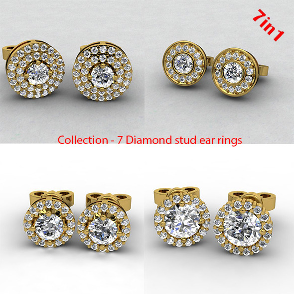 3DOcean Diamond Stud Earrings 10160745