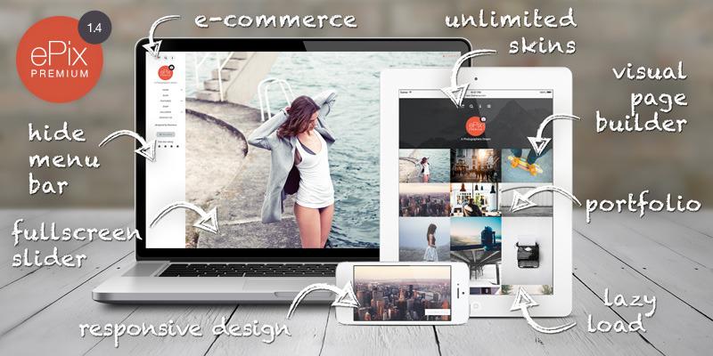 ePix - Fullscreen Photography WordPress Theme