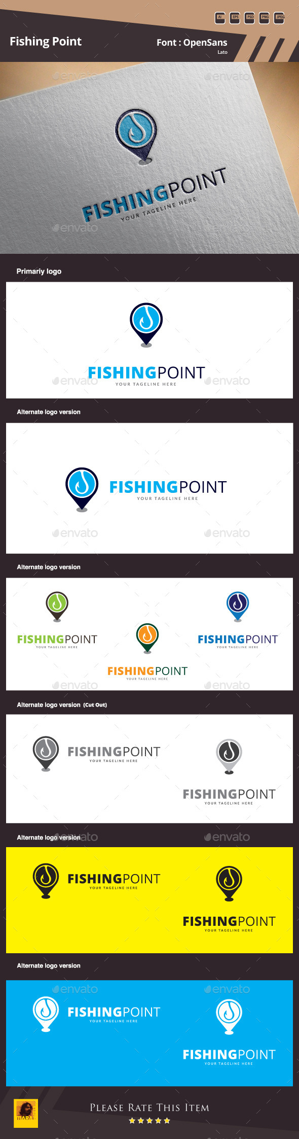 GraphicRiver Fishing Point Logo Template 10160862
