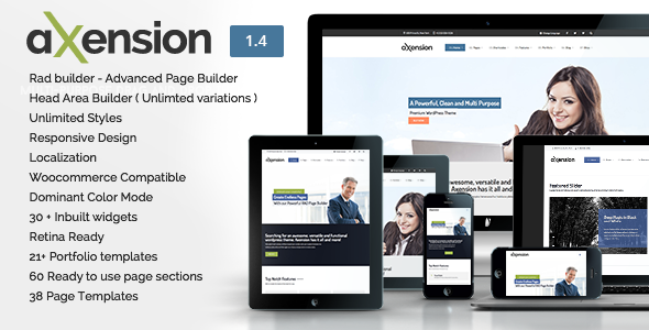 Axension - Powerful Multi-Purpose WordPress Theme - Corporate WordPress