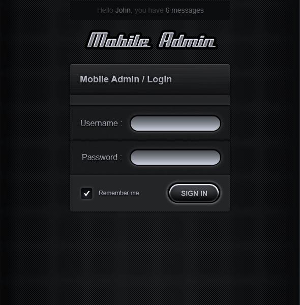 mobile admin