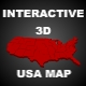 3D USA MAP - [BEST.INTERACTIVE.MAP] - ActiveDen Item for Sale