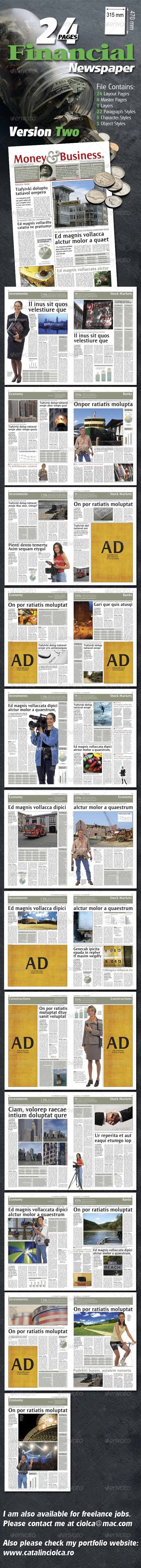 GraphicRiver 24 Pages Financial Newspaper Version Two 1023729