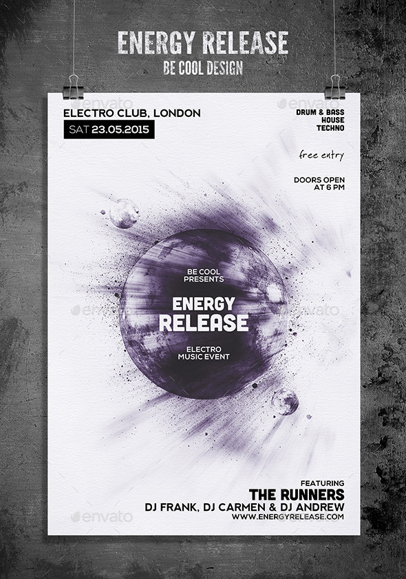 Electro Flyer Poster