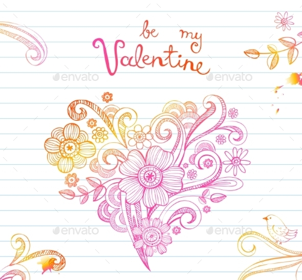 GraphicRiver Sketchy Doodle Heart 10161997