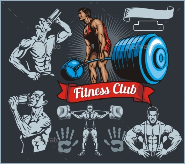 GraphicRiver Bodybuilder with a Barbell 10162050
