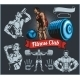 Bodybuilder with a Barbell - GraphicRiver Item for Sale