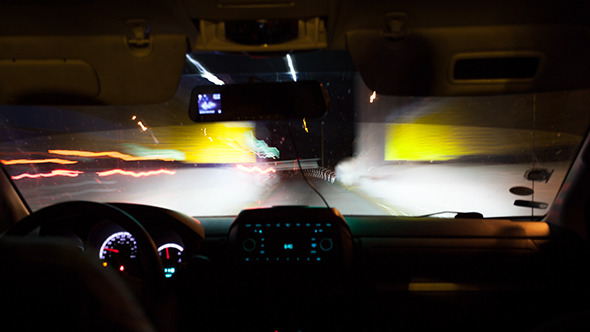 VideoHive Driving A Car On Night Road 10162273