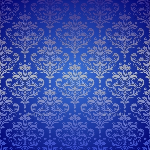 GraphicRiver Luxury Seamless Golden Floral Wallpaper 10162278