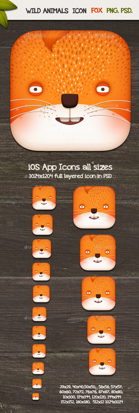 GraphicRiver Fox App Icons 10108429