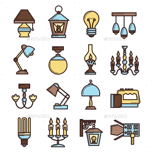 GraphicRiver Light Icon Set 10163047