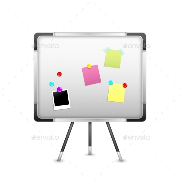 GraphicRiver Board with Notice and Magnet 10163114