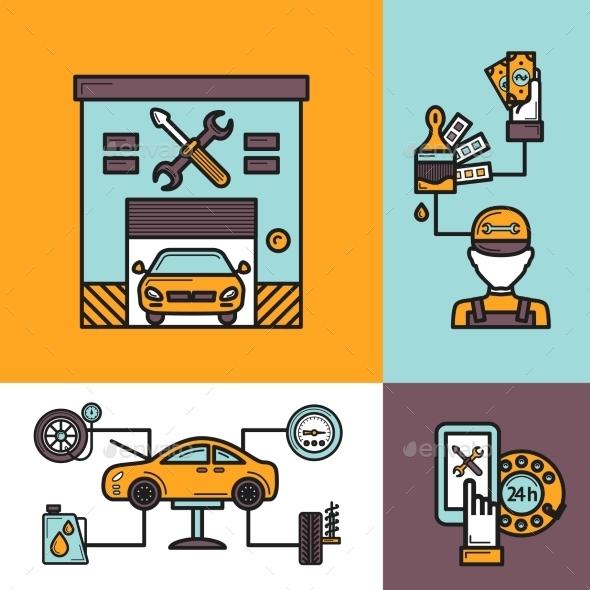 GraphicRiver Auto Service Concept 10163119