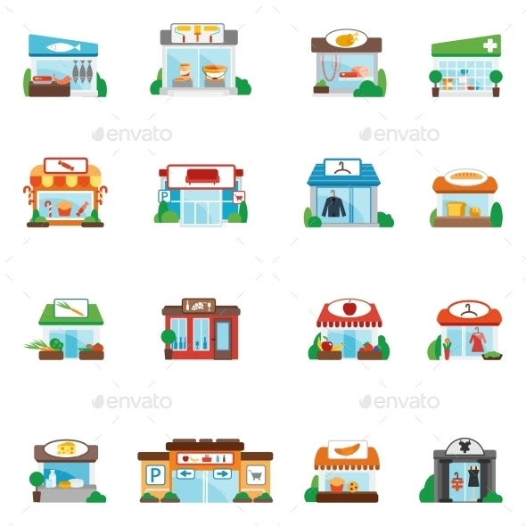 GraphicRiver Store Building Flat 10163863
