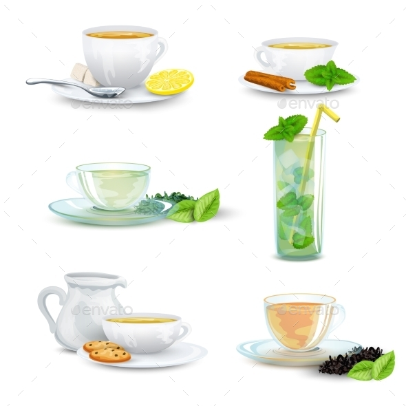 GraphicRiver Tea Icon Set 10163867