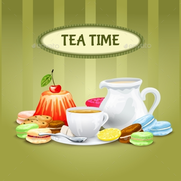 GraphicRiver Tea Time Poster 10163869