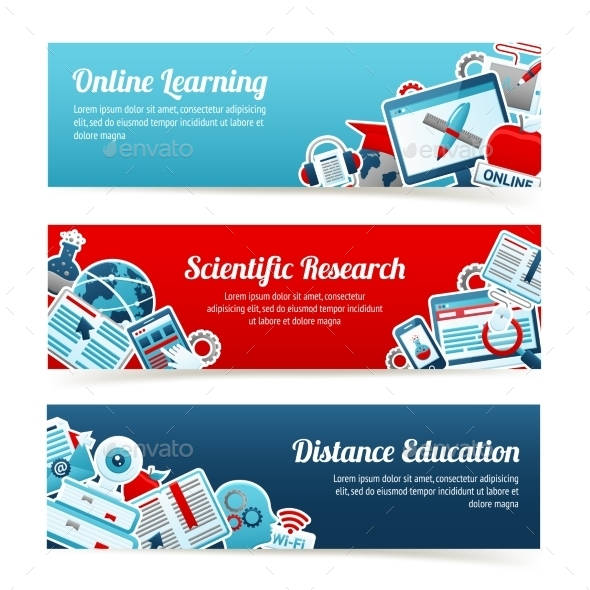 GraphicRiver Online Education Banners 10164025