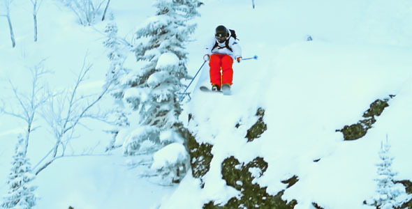 Eagle Ski Trick