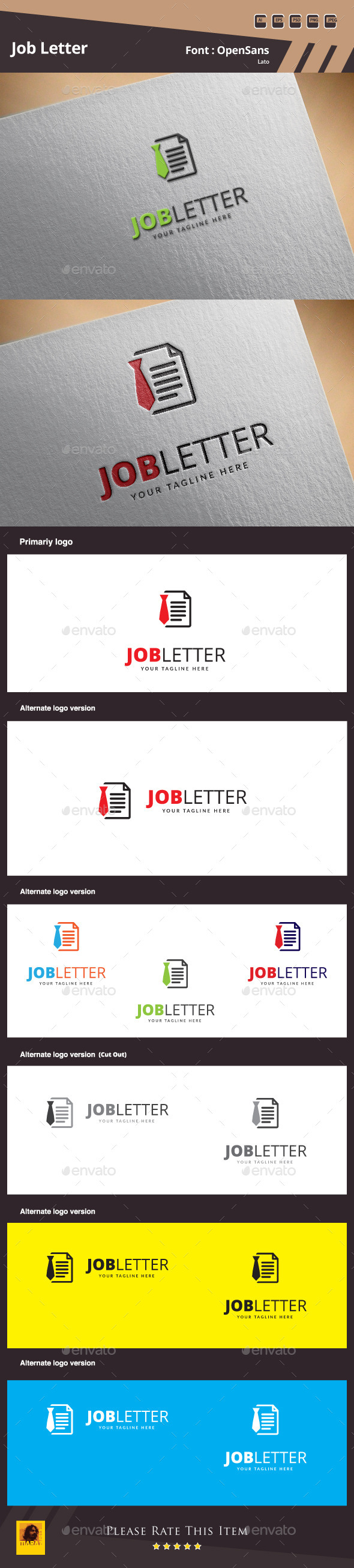 GraphicRiver Job Letter Logo Template 10164781