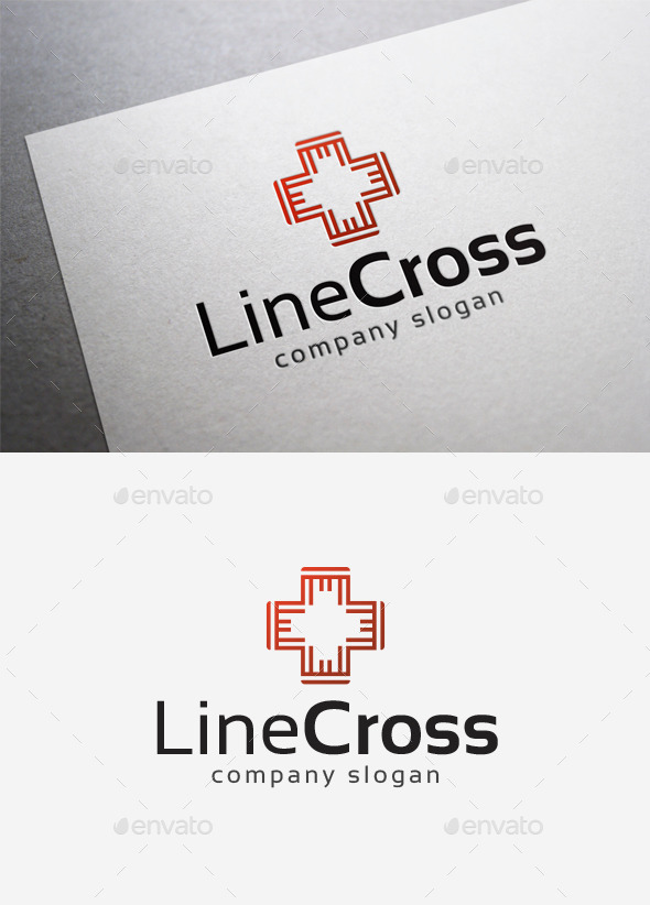 GraphicRiver Line Cross Logo 10165040