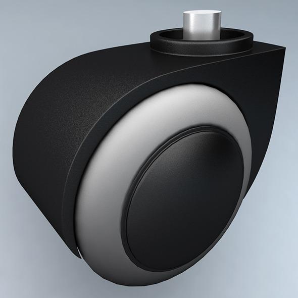Plastic caster wheel - 3DOcean Item for Sale