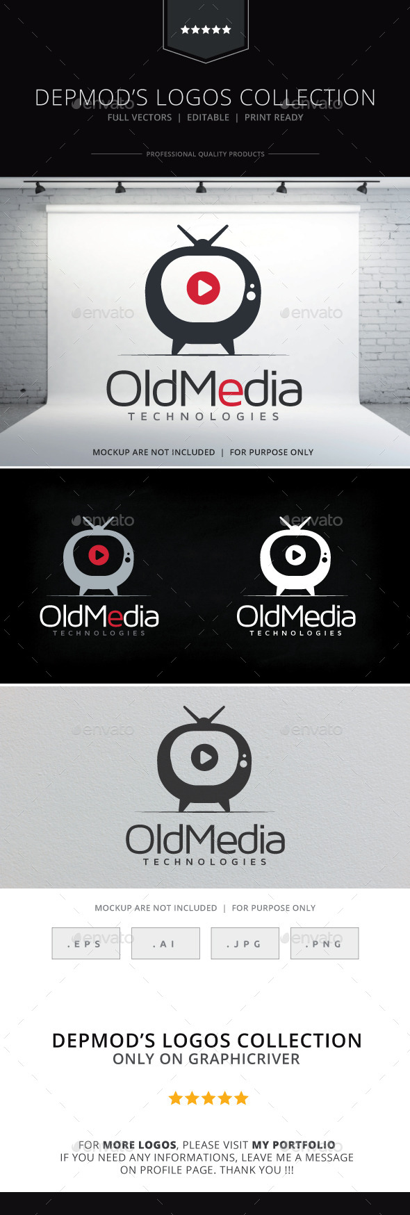 GraphicRiver Old Media Logo 10165871