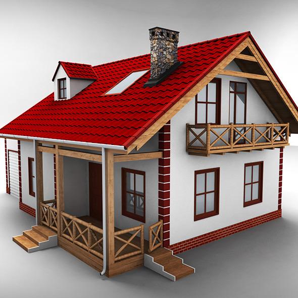 Single Family House - 3DOcean Item for Sale