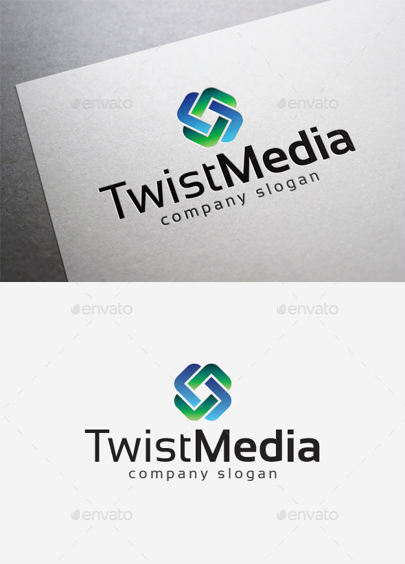 GraphicRiver Twist Media Logo 10166059