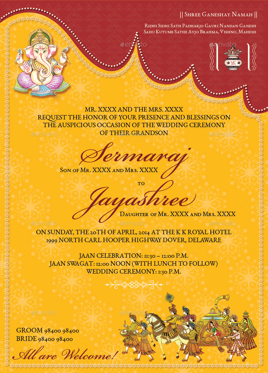 Indian Wedding Invitation Cards Templates Matik for – Hindu Wedding Invitation Cards Designs