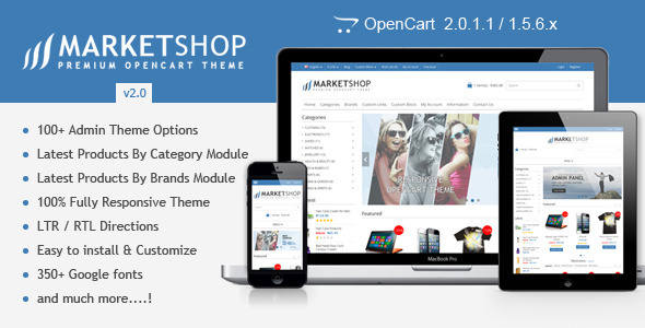 MarketShop - Multi-Purpose Premium OpenCart Theme - OpenCart eCommerce