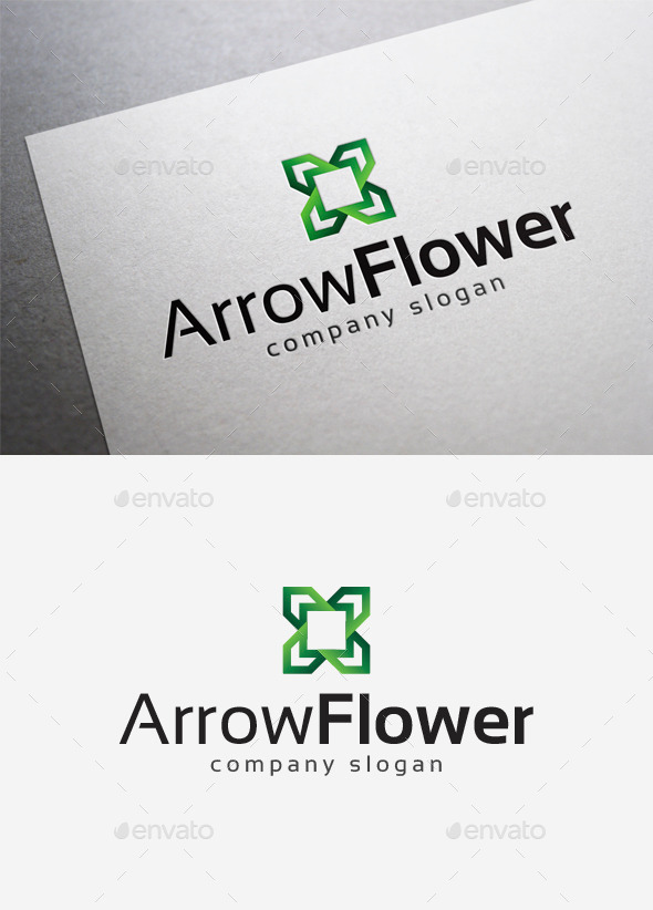 GraphicRiver Arrow Flower Logo 10166356