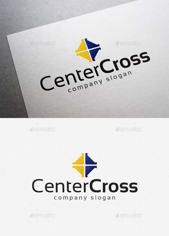 GraphicRiver Center Cross Logo 10166377