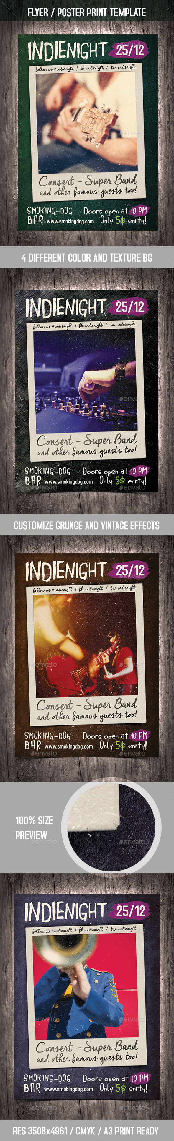 GraphicRiver Photo Party Poster Flyer Vintage Template 9823508
