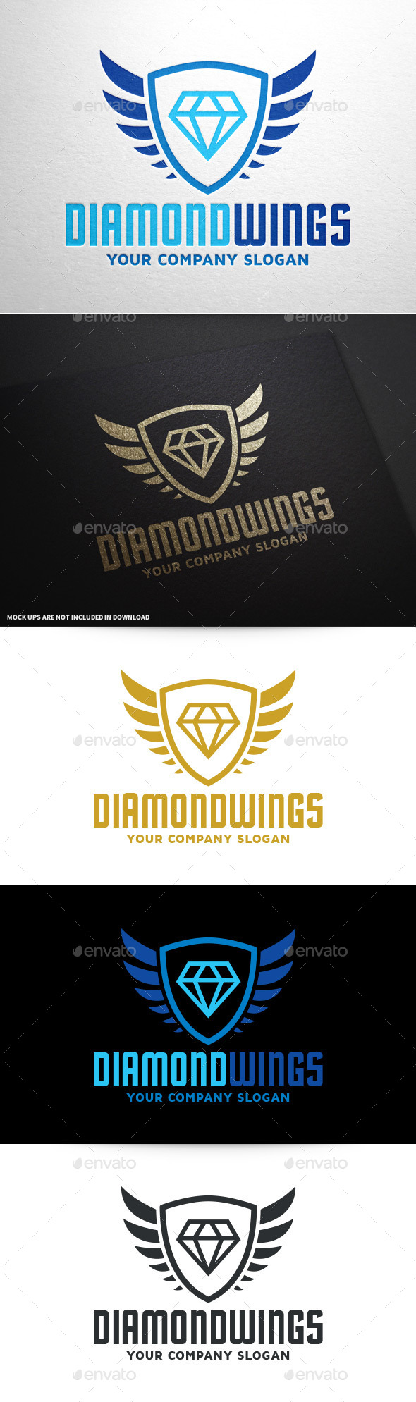 GraphicRiver Diamond Wings Logo Template 10166473