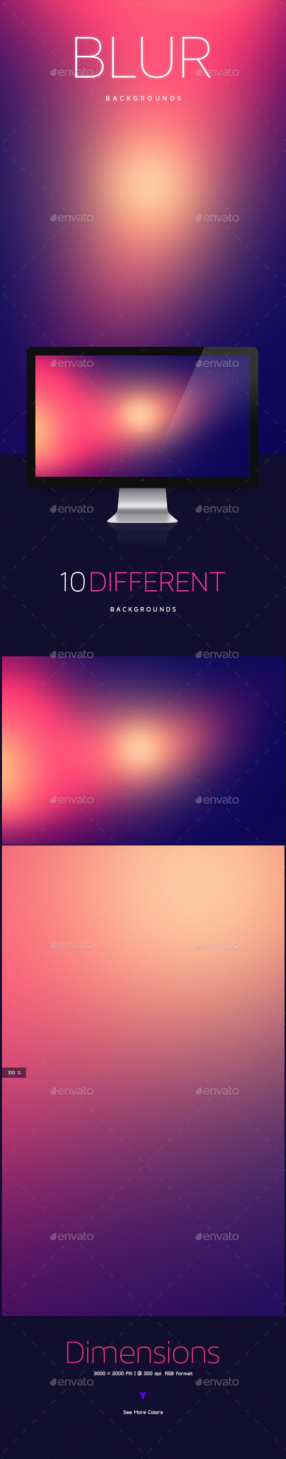 GraphicRiver Blur Abstract Backgrounds 10166475