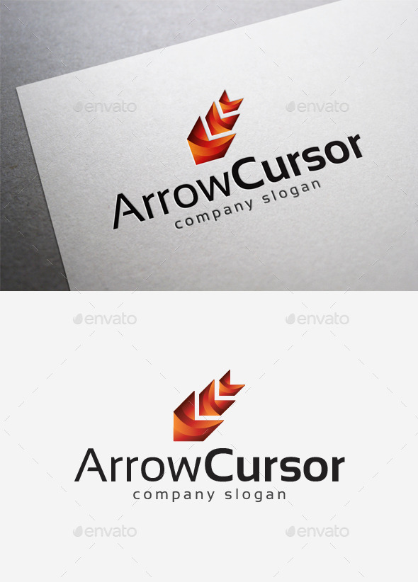 GraphicRiver Arrow Cursor Logo 10167611