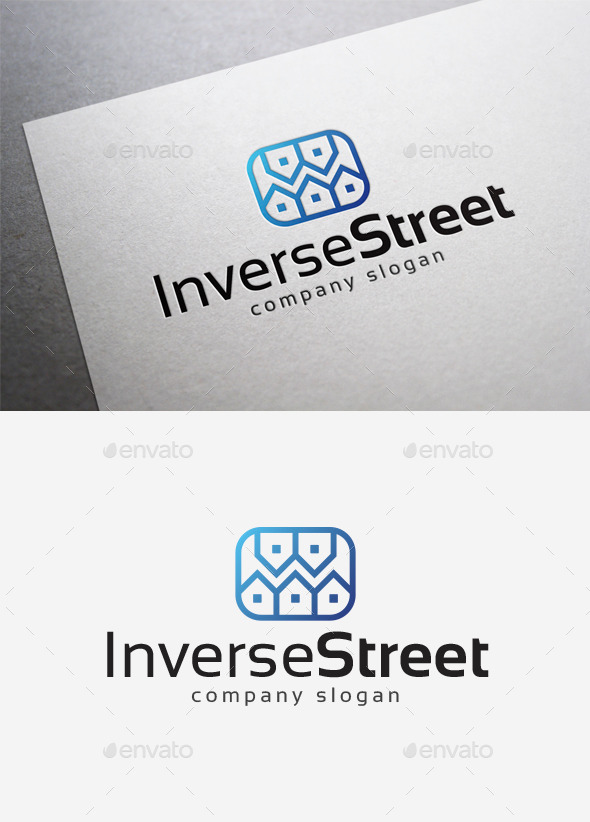 GraphicRiver Inverse Street Logo 10167680