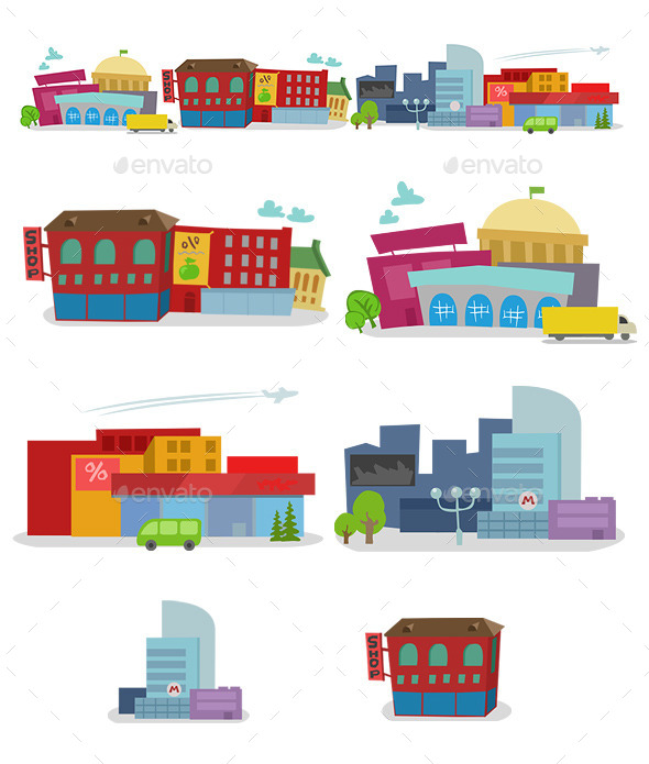 GraphicRiver City Houses 10167696