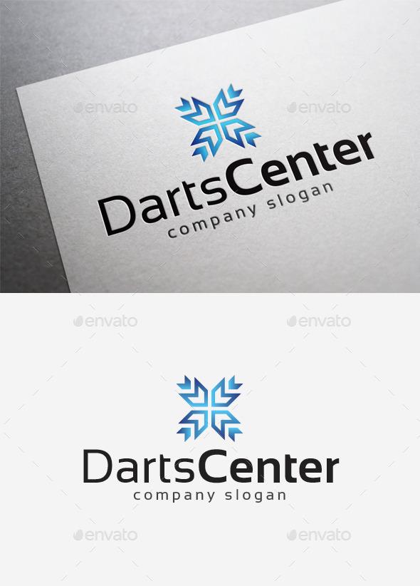 GraphicRiver Darts Center Logo 10168070