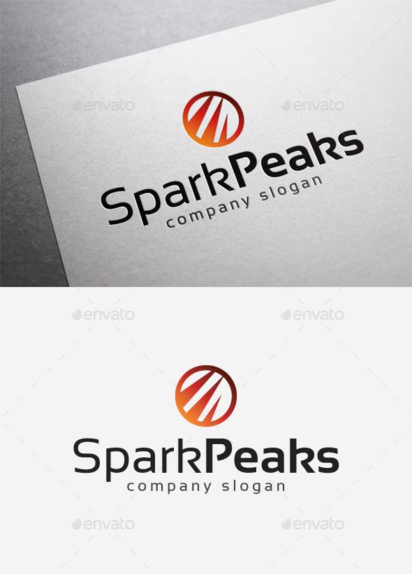 GraphicRiver Spark Peaks Logo 10168182