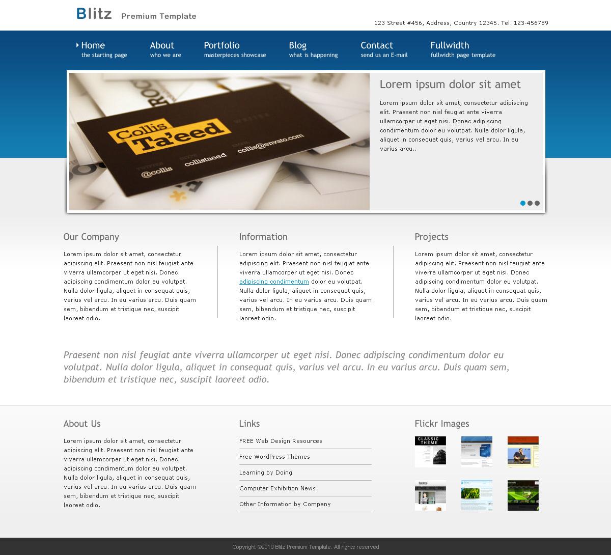 Blitz - Premium Business WordPress Theme