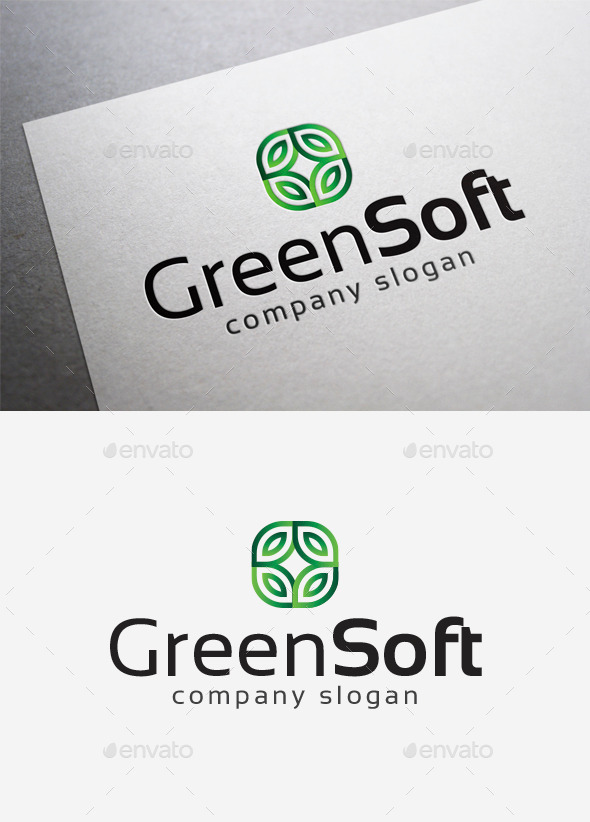 GraphicRiver Green Soft Logo 10168273