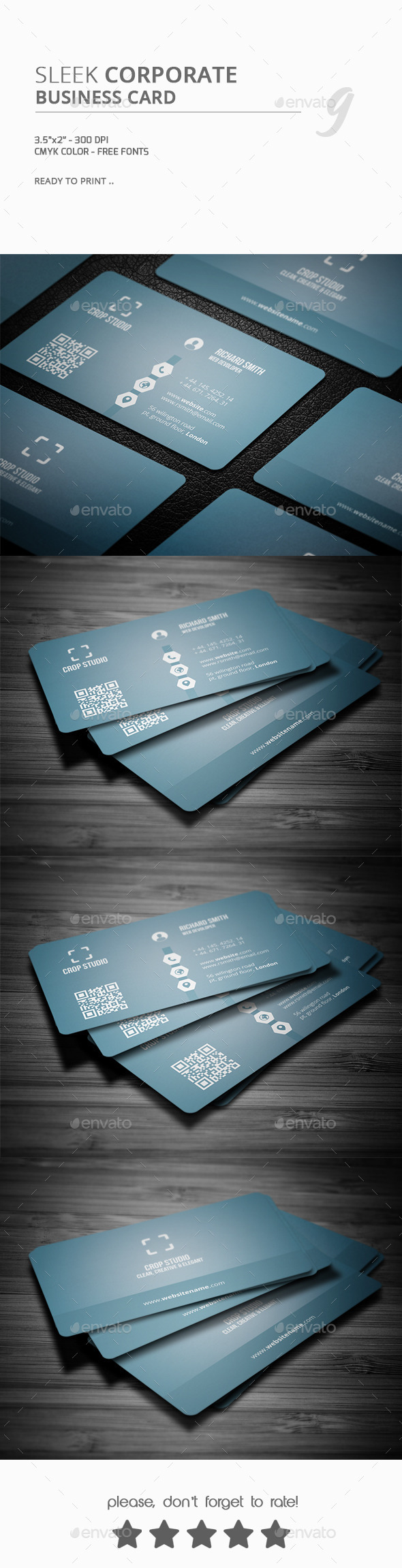 GraphicRiver Sleek Corporate Business Card 10169561