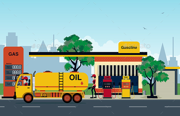 GraphicRiver Petrol Station 10169564