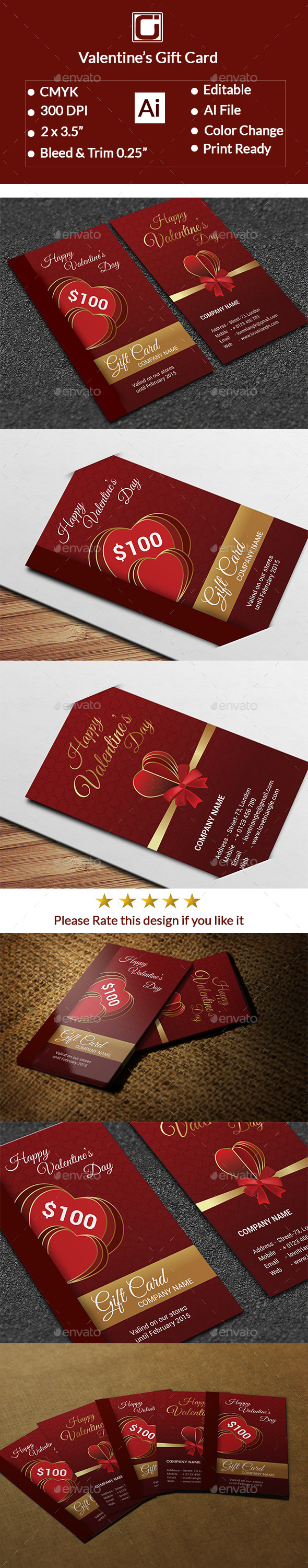 GraphicRiver Valentine s Gift Card 10169580